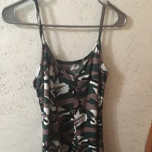 Dresses & Skirts - Camo spaghetti strap short dress!!